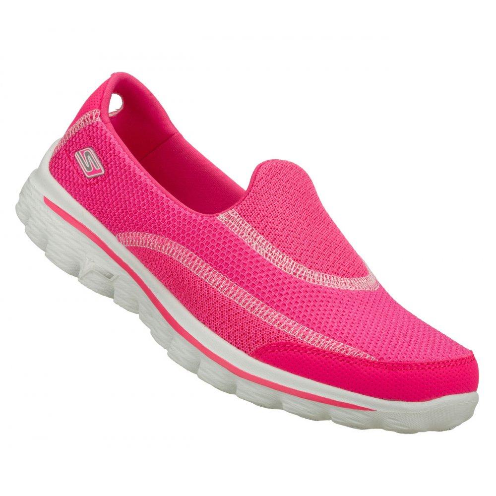 skechers skechers go walk 2 pink n6 13590 womens
