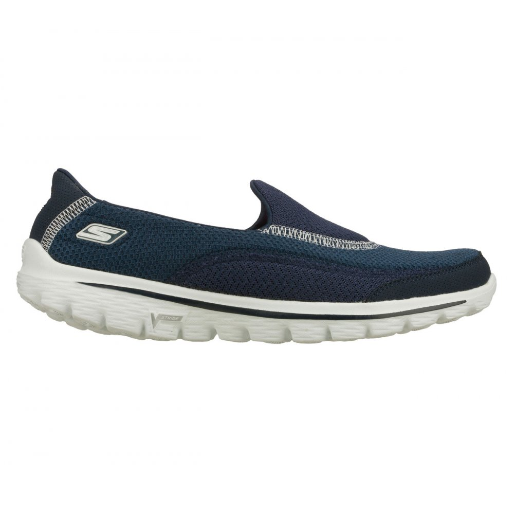 skechers skechers go walk 2 navy n13 womens slip on. Black Bedroom Furniture Sets. Home Design Ideas