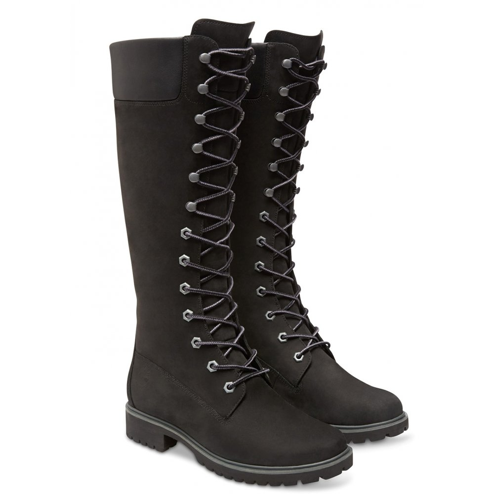 Excellent Timberland Womens Black Premium 14 Inch Boots 8167R | TOWER London