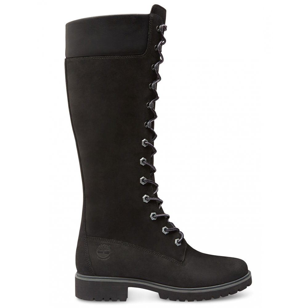 Perfect Timberland Womens Authentic 6 Inch Bright Leather Boot-All Black