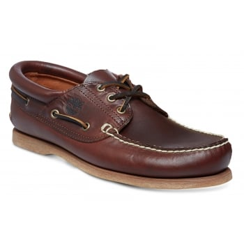 Timberland 3 Eye Brown (G3) 76015 Mens Padded Collar Boat Shoes