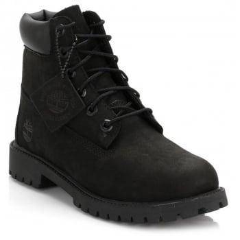 Timberland 6 Inch Prem Nubuck Black (Z9-Z30) 12907 Juniors Boots