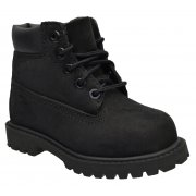 Timberland 6 Inch PREM Toddlers 12807 / Youths 12707 Black (E3) Boots