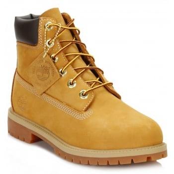 Timberland 6 Inch Premium Juniors (Z107) Nubuck Wheat 12909 Boots