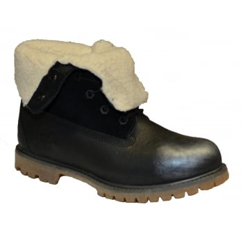 Timberland Auth Waterproof Fold Down Black (Z102) A11AA Ladies Boots