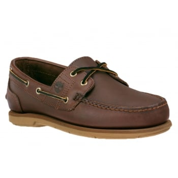 Timberland Classic 2 Eye Dark Brown (Opp-C) 25021 Mens Boat Shoes