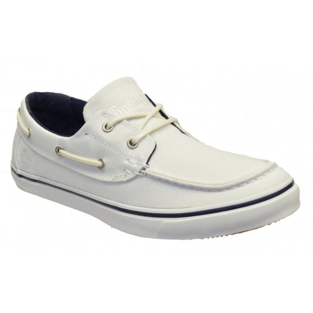 19e1ab236853 Timberland EK OX NMRKT Canvas White   White (P11) 6732R Mens Boat Shoes