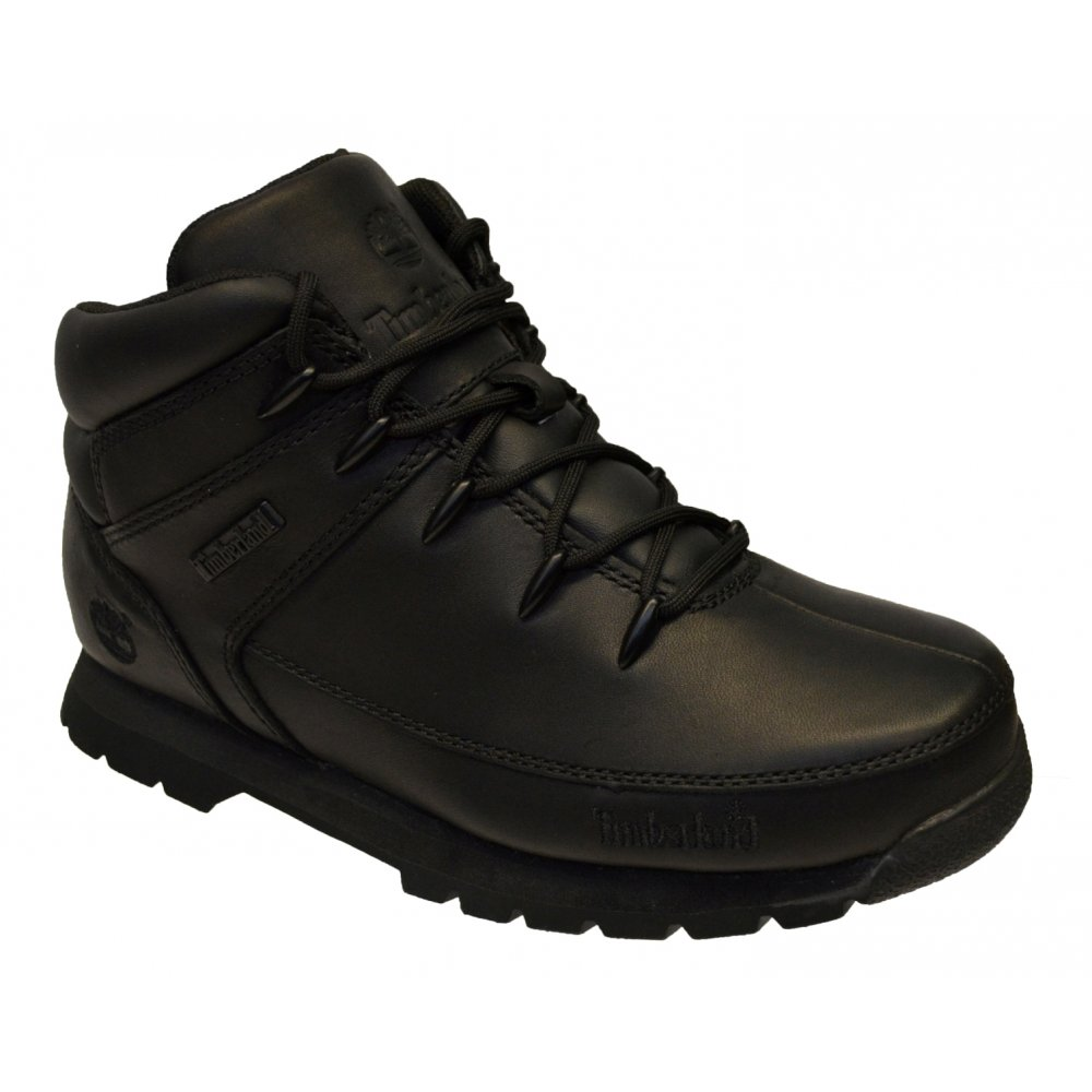 Timberland Junior Black Euro Sprint Leather Boots FJ_1351