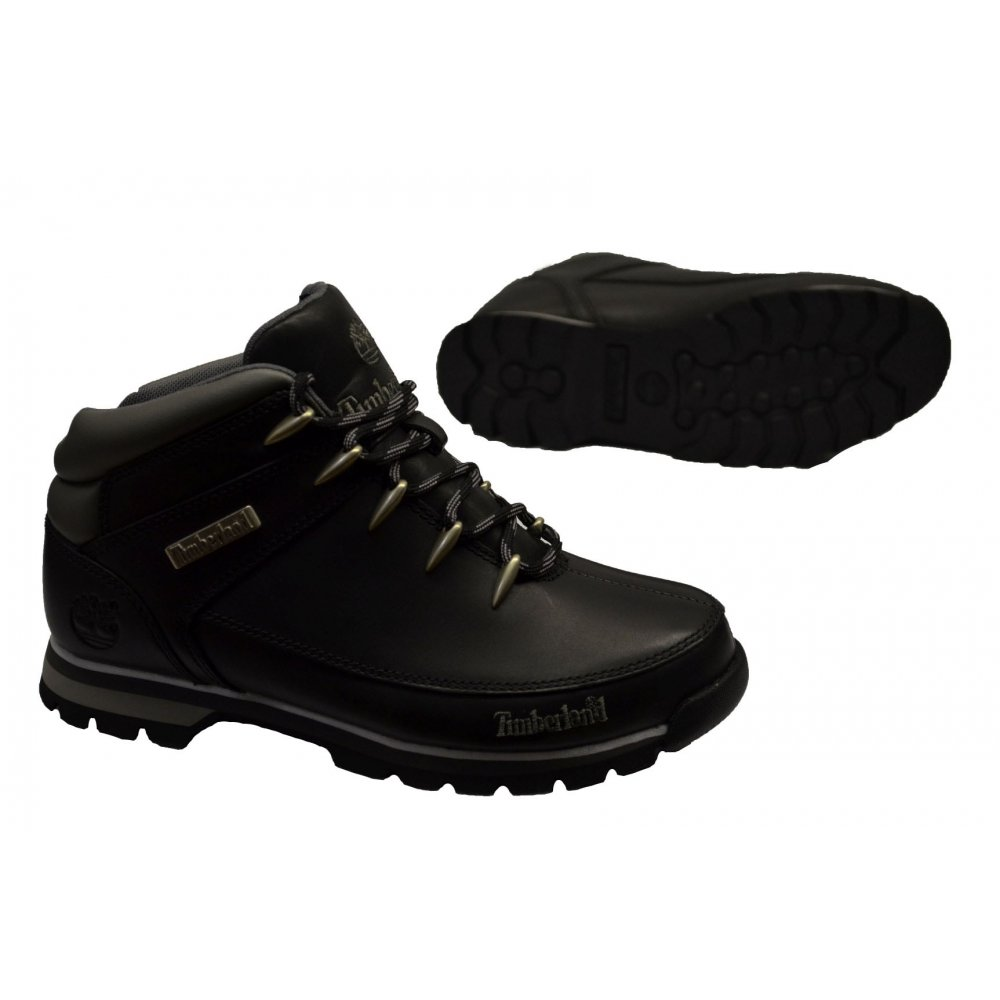 ... Timberland Euro Sprint Leather Black (N30 / Z21) 6200R Mens Boots ...