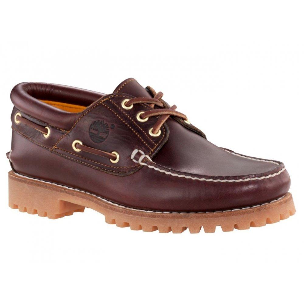 Timberland Heritage 3 Eye Classic Lug Burgundy (N47) 50009 Mens Boat Shoes  ...