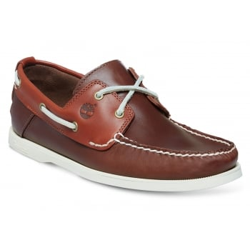 Timberland Heritage CW 2 Eye Pott Brown (Z15) A13HP Mens Boat Shoes