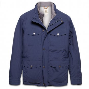 Timberland Mens (E2) Navy Mount Clay 3-in-1 Waterproof Field Jacket