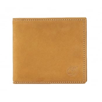 Timberland Mens Nubuck Wheat Bifold Wallet with Coin Pocket TB0A1HXS-919
