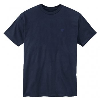 Timberland Organic Cotton Navy (A13) 6639J Mens Crew Neck T-Shirts