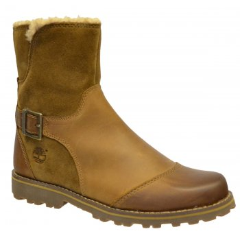 Timberland Skyhaven Mid Juniors Brown (N17b) A14OD Shearling Boots