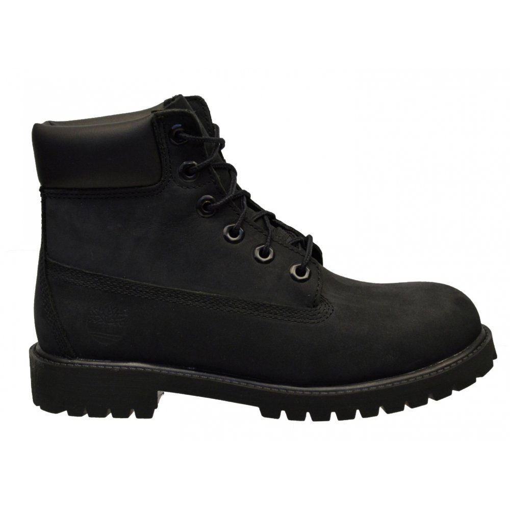 Cool Timberland Womens Authentic 6 Inch 10061 Boot-All Black