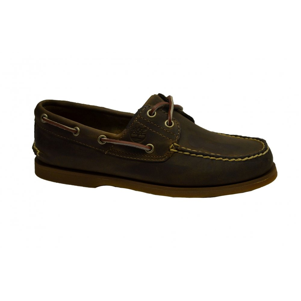 timberland timberland brown 2 eye n26 classic mens boat