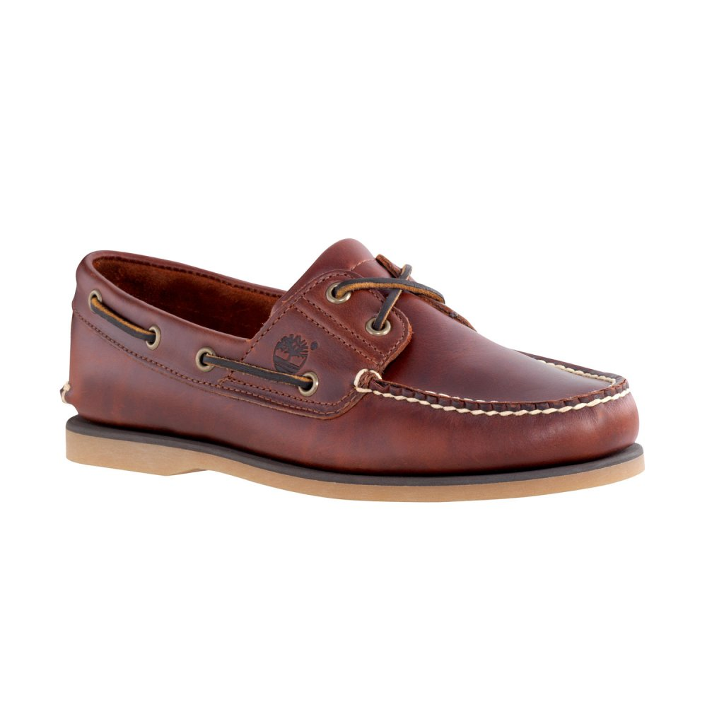 timberland timberland brown 2 eye n55 classic mens boat