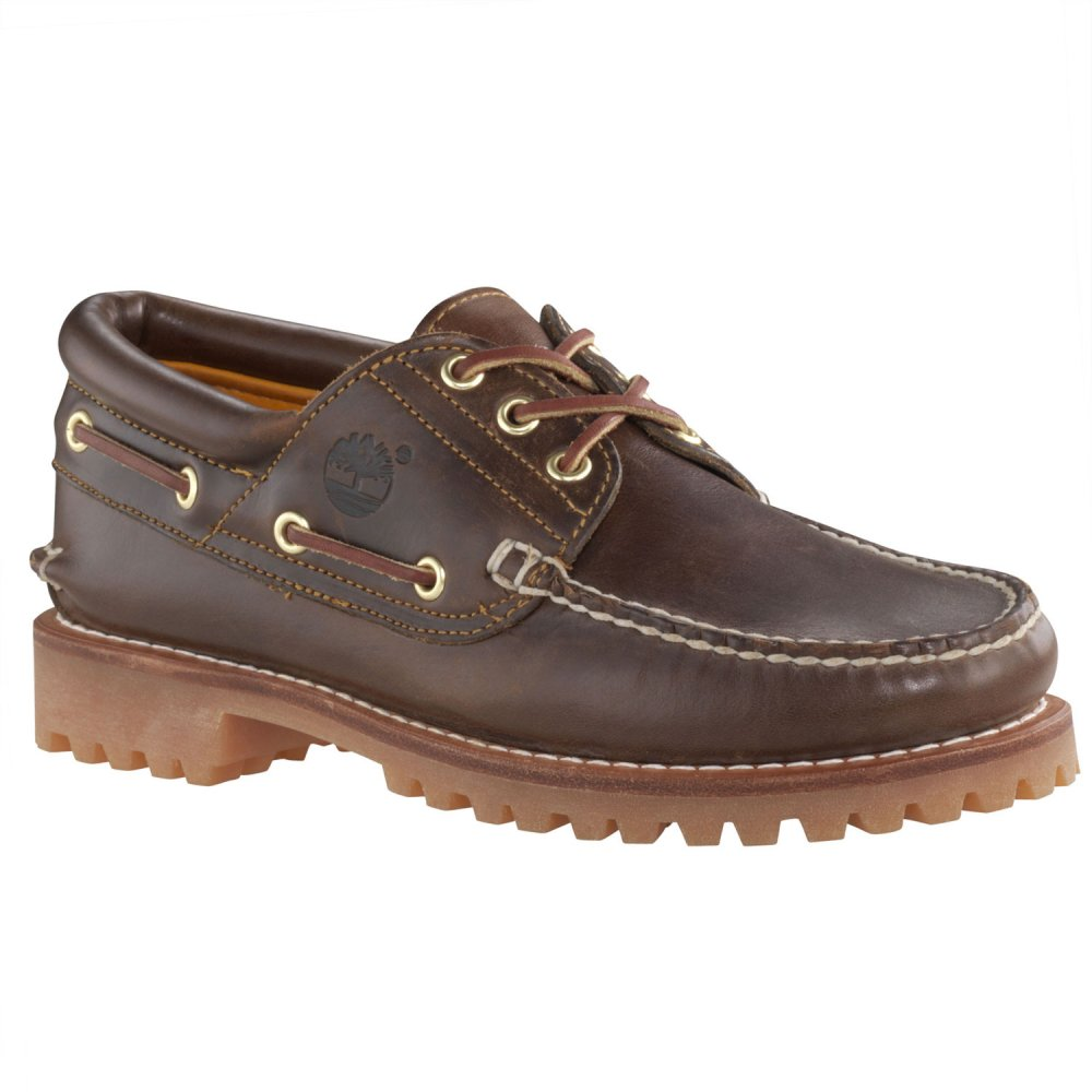 Timberland Brown 3 Eye (N200A) Heritage Classic Lug Mens Boat Shoes