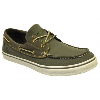 Timberland EK OX NMRKT Canvas Olive Green (Z11) 6808B Mens Boat Shoes