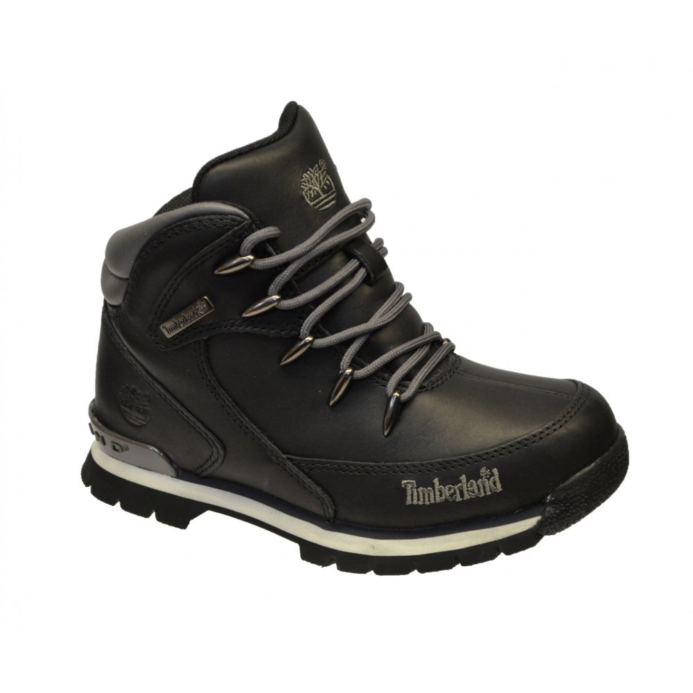 15e481eacaa Timberland Timberland Euro Rock Hiker Youths Black (N83) 9674R Boots ...