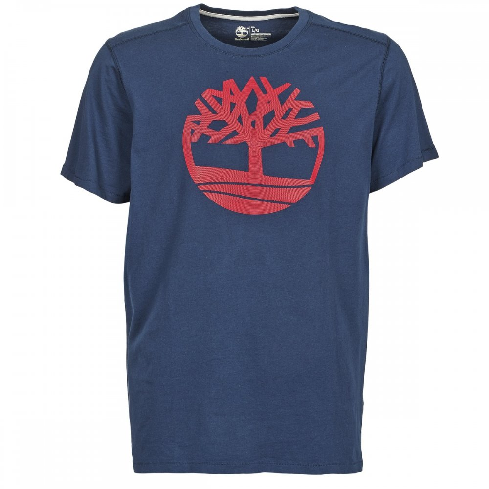 Timberland SS Kennebec River Tree Navy (A13) 8466J-019 Mens Crew Neck T ...