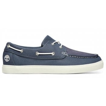 Timberland Union Wharf Dark Blue Canvas (Z17) A1XEU Mens Boat Shoes