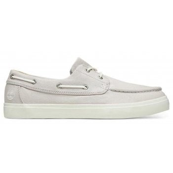 Timberland Union Wharf Light Grey Canvas (Z13) A1W4W Mens Boat Shoes