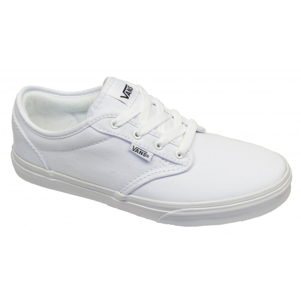 VANS Atwood Youths Canvas White / White (F8) VN-0 UDT7HN Trainers. ‹