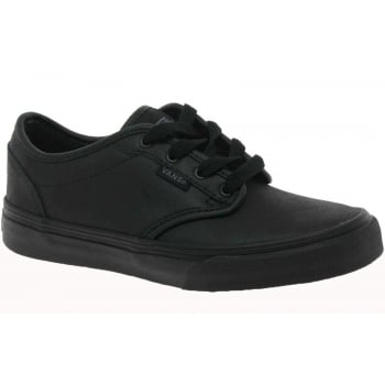 VANS Atwood Youths Leather Triple Black (G1) VN-0003Z9KNX Trainers