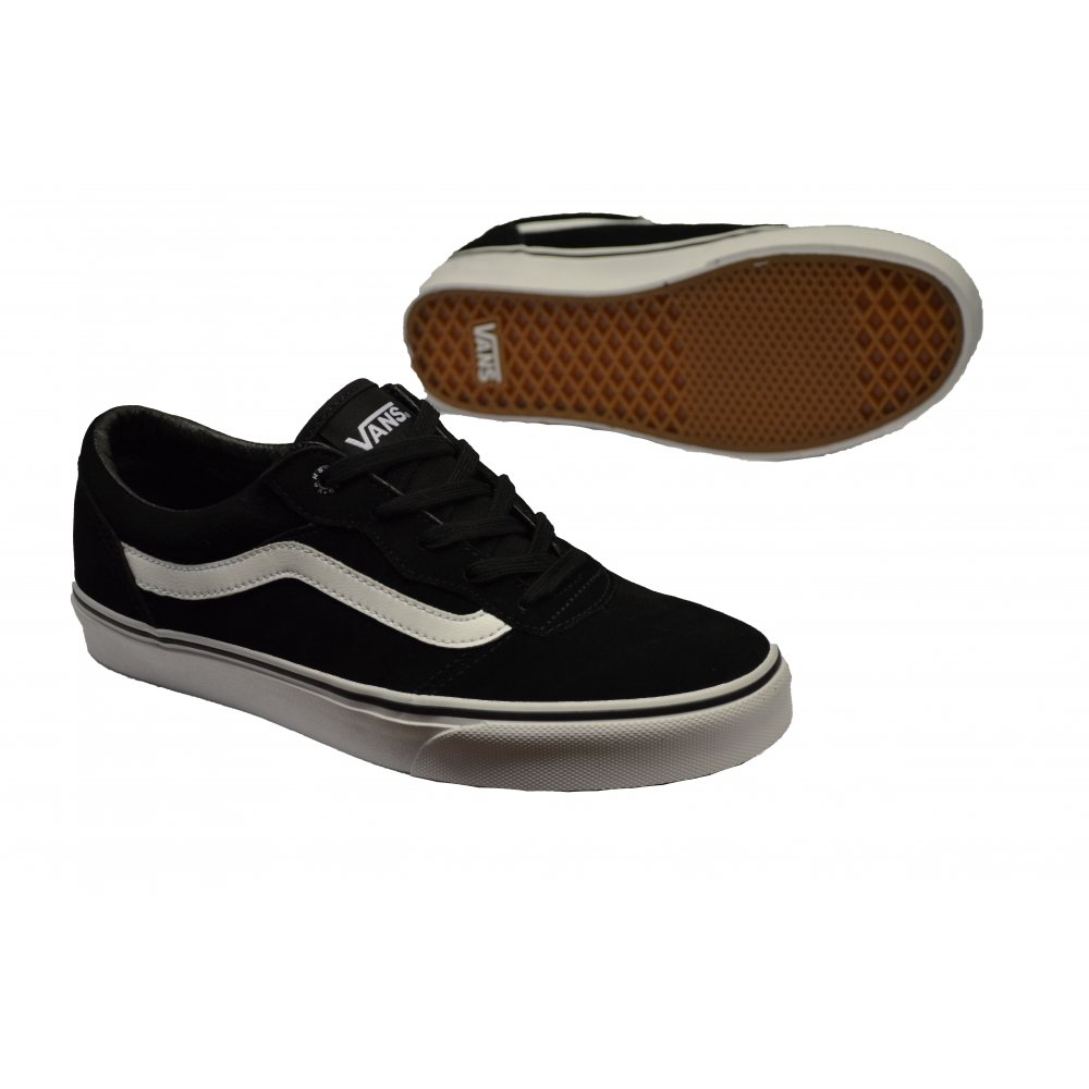 1b9bd0f30d VANS Vans Milton Suede Black   White (E7) Mens Trainers - VANS from ...
