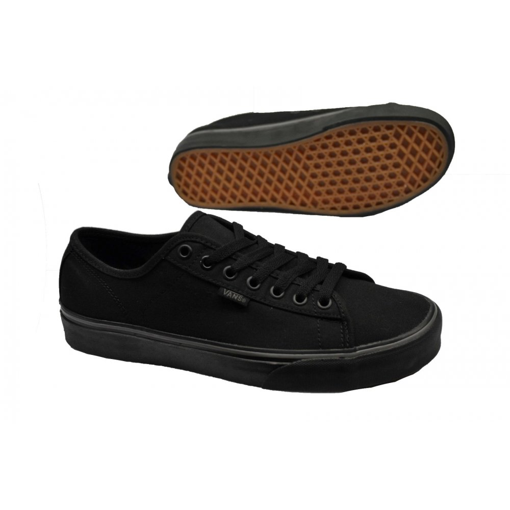 1f1a370f0fe1 vans pure black Sale