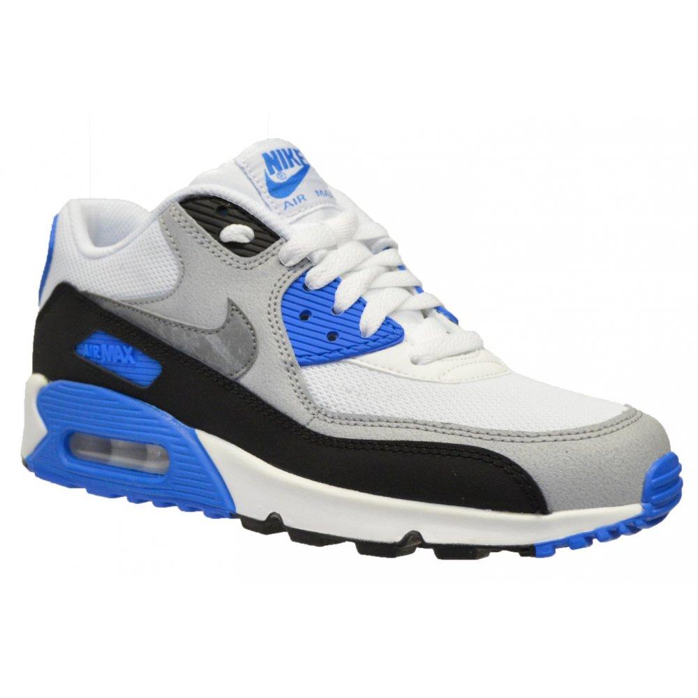 Nike Nike Air Max 90 Mesh (GS) White / Cool Grey-Blue (N7a ...